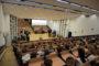 """Prawie 500 uczniów, nauczycieli i myśliwych oraz gości honorowych uczestniczyło w wielkim finale """"Roku bażanta"""" w połączonych aulach Wydziału Nauk o Zwierzętach SGGW w Warszawie"""
