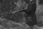 Polowanie w Pruchnej 1934 r. Na stanowisku stoi gen. Kordian Zamorski
