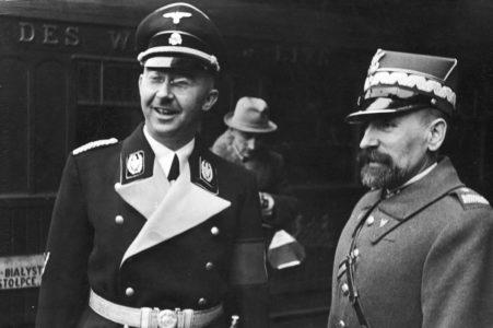 Reichsführer i późniejszy Kanclerz Niemiec Himmler z Kordianem Zamorskim