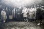 Polowanie w Sielcu w 1935 roku u Olgierda Czartoryskiego (pierwszy z prawej) z udziałem Karola Olbrachta (czwarty z prawej). Na pokocie znalazło się 1819 sztuk zwierzyny
